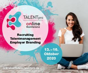 Banner für TALENTpro Online Konferenz Okt. 2020